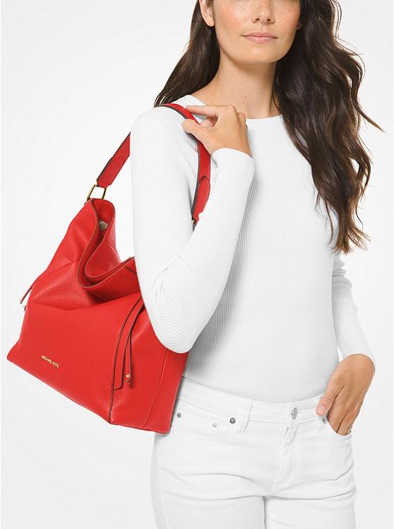 Evie Pebbled Leather Shoulder Bag 38H9CZUH7L
