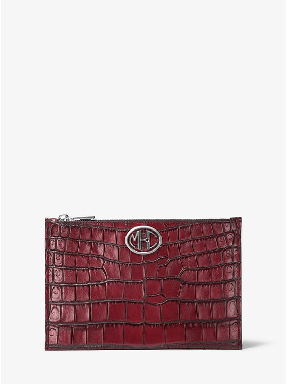 Monogramme Crocodile-Embossed Leather Pouch 31F9NNOC4C