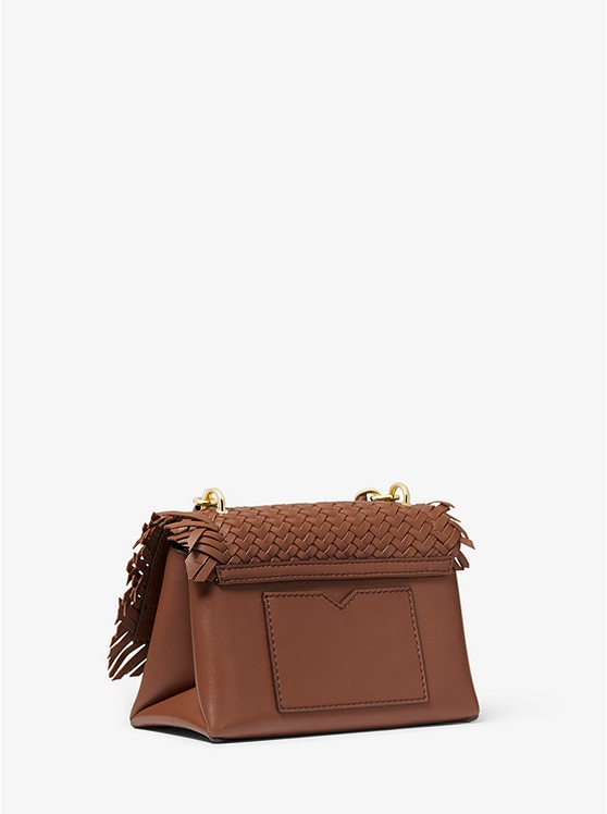 Cece Extra-Small Woven Leather Crossbody Bag 32T0G0EC0O