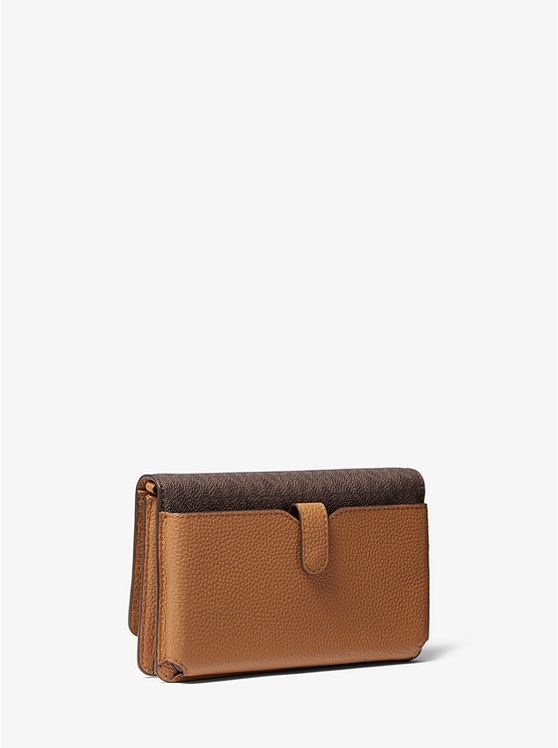 Logo and Leather Convertible Crossbody Bag 32T9GF5C0L