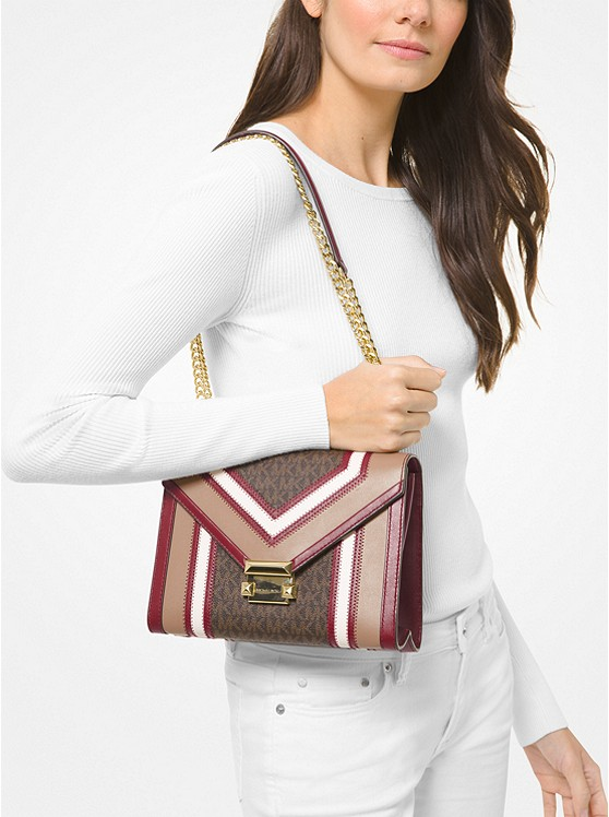 Whitney Large Logo and Leather Convertible Shoulder Bag 30H8GWHL3B