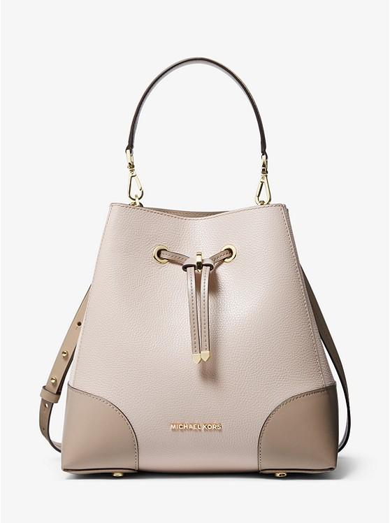 Mercer Gallery Medium Two-Tone Pebbled Leather Shoulder Bag 30T0GZ5L6L