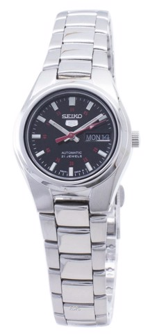 5 Automatic Black Dial Stainless Steel Ladies Watch SYMC27