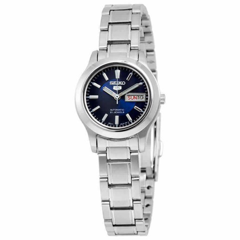 5 Automatic Blue Dial Stainless Steel Ladies Watch SYMD93