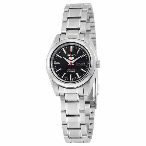 5 Automatic Black Dial Stainless Steel Ladies Watch SYMK17