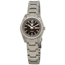 5 Automatic Brown Dial Stainless Steel Ladies Watch SYMK25