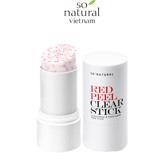 SÁP TRỊ MỤN RED PEEL CLEAR STICK PORE BLACKHEAD & FACE SO'NATURAL HÀN QUỐC