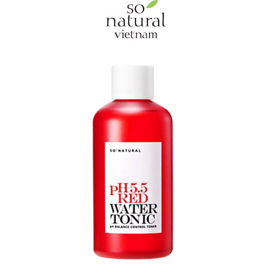 NƯỚC HOA HỒNG PH 5.5 RED WATER TONIC SO'NATURAL