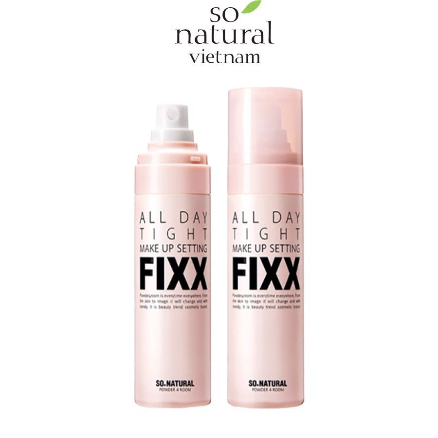 XỊT DƯỠNG NỀN ALL DAY TIGHT MAKE UP SETTING FIXX SO'NATURAL