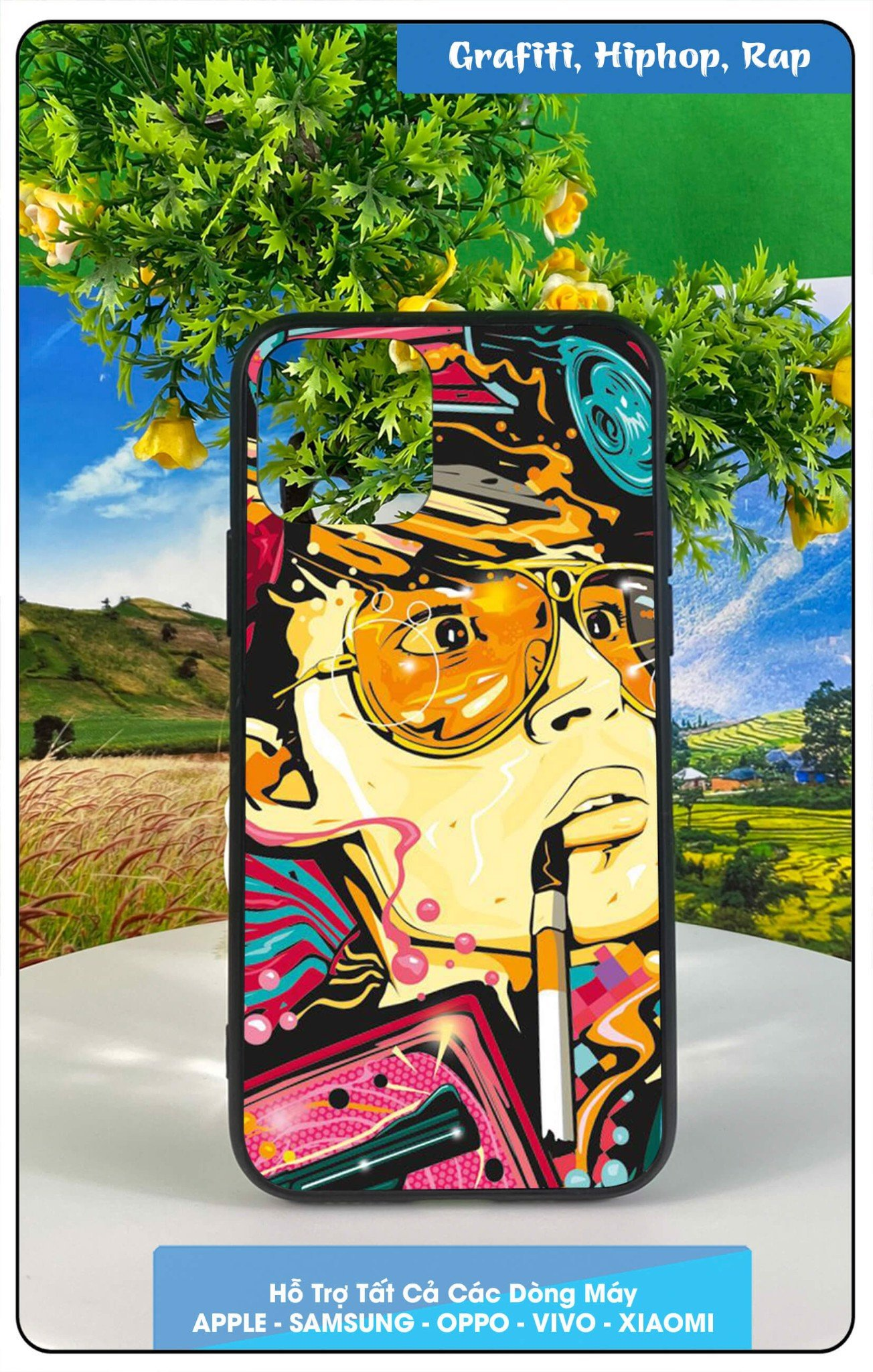 Ốp Iphone 11 promax in hình grafiti, hip-hop, rap