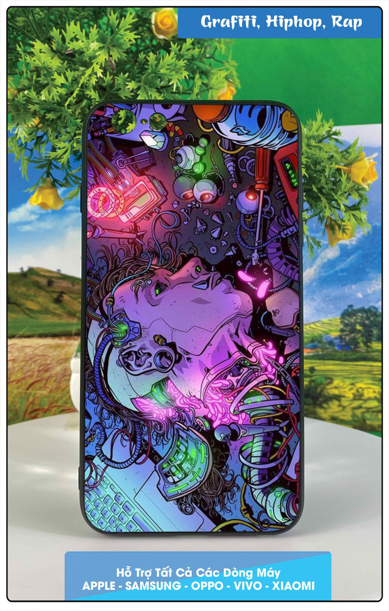 Ốp Iphone 6 plus in hình grafiti, hip-hop, rap
