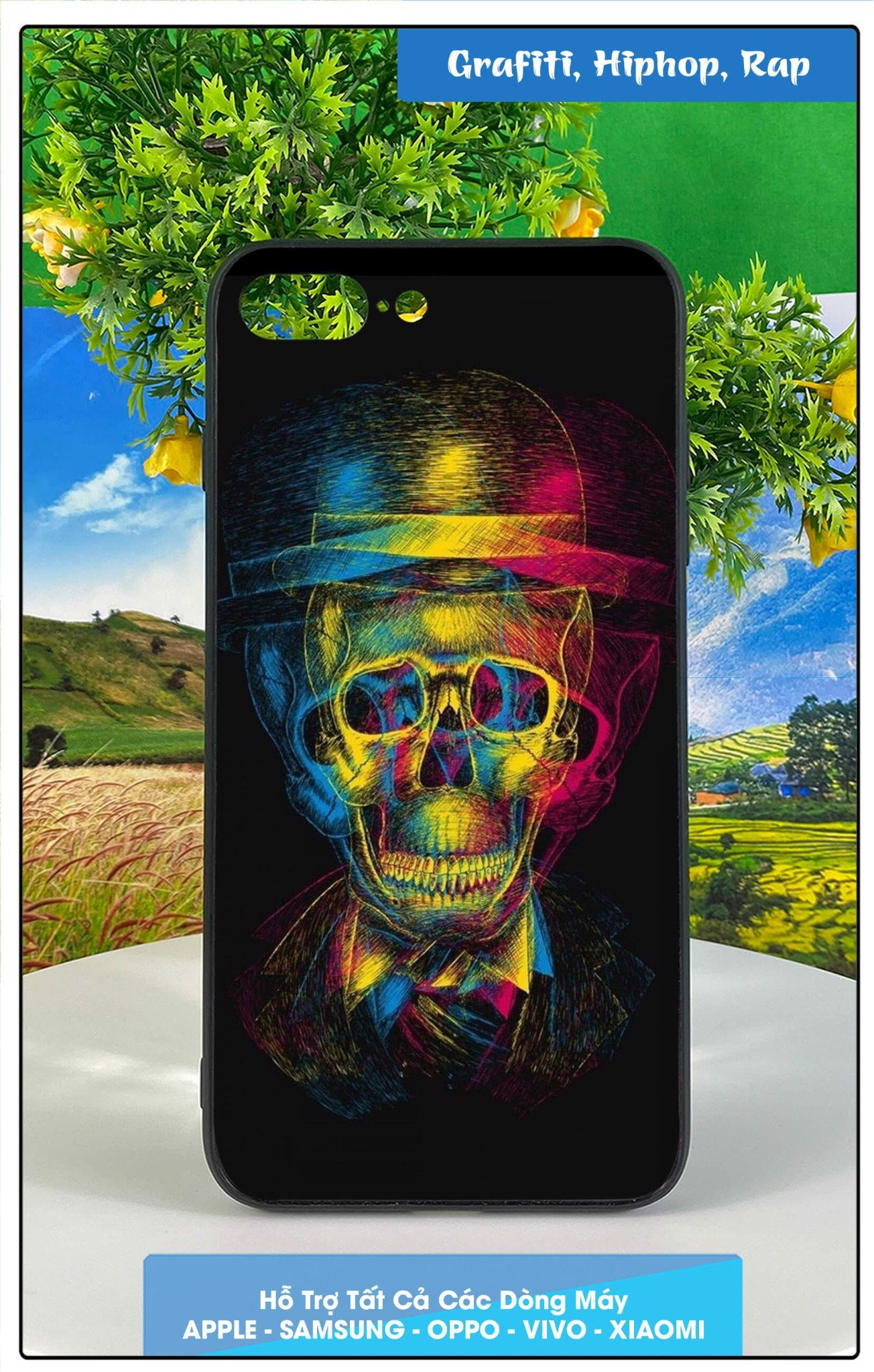 Ốp Iphone 7 plus in hình grafiti, hip-hop, rap