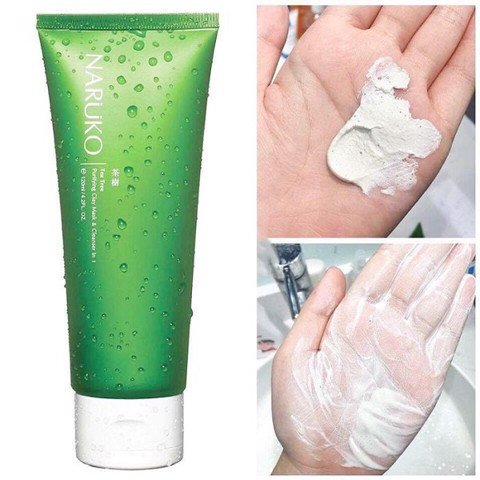 Sữa rửa mặt dạng bùn Naruko Purifying Clay Mask& Cleanser in 1 Tea Tree 120g