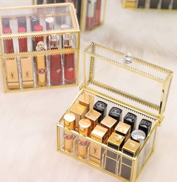 Hộp Son Viền Gold - Luxury Collection