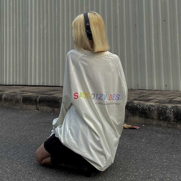 SADBOIZVIBES LONG SLEEVE - WHITE (casual)
