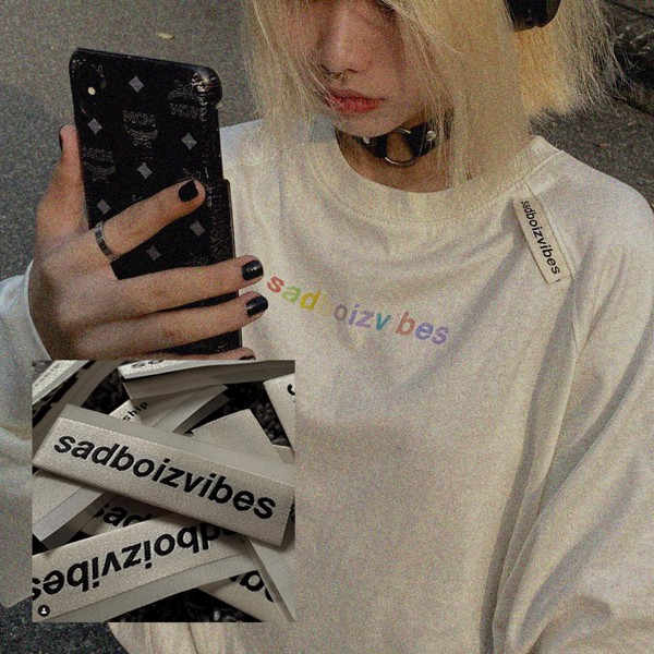 SADBOIZVIBES LONG SLEEVE - WHITE (membership)