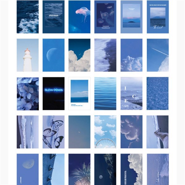 POSTCARD deep blue