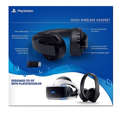 Tai Nghe Playstation PS4 Gold Wireless Headset - Black