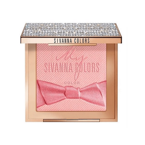 Phấn má Sivanna Colors Diamond Rose Essence Oil Blush (vỏ đính đá) HF4027