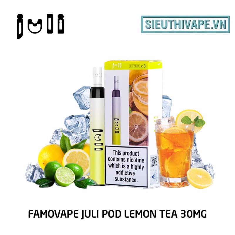 FamoVape Juli Pod 30mg Lemon Tea - Disposable Pod dùng 1 lần