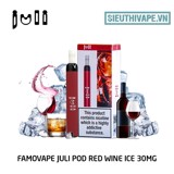 FamoVape Juli Pod 30mg Red Wine Ice - Disposable Pod dùng 1 lần