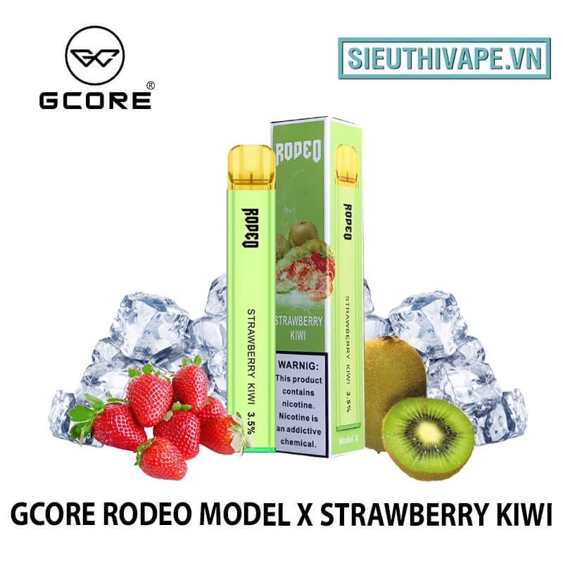 Gcore Rodeo Model X Strawberry Kiwi Disposable - Vape Pod Dùng 1 Lần