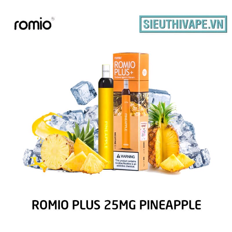 Romio Plus 25mg Pineapple - Disposable Pod dùng 1 lần