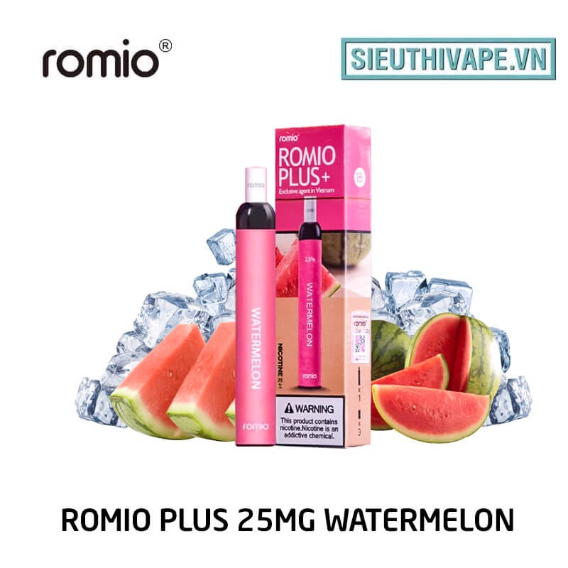 Romio Plus 25mg Watermelon - Disposable Pod dùng 1 lần