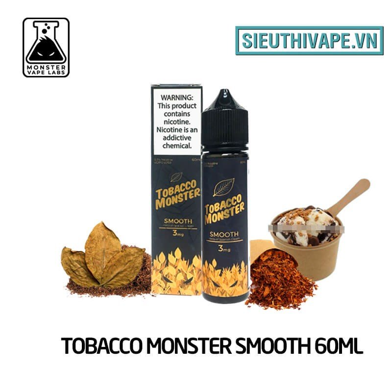 Tobacco Monster Smooth 60ml - Tinh Dầu Vape Mỹ
