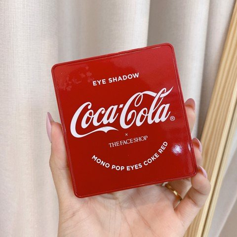 Bảng mắt The Face Shop x Coca-Cola Mono Pop Eyes Coke Red