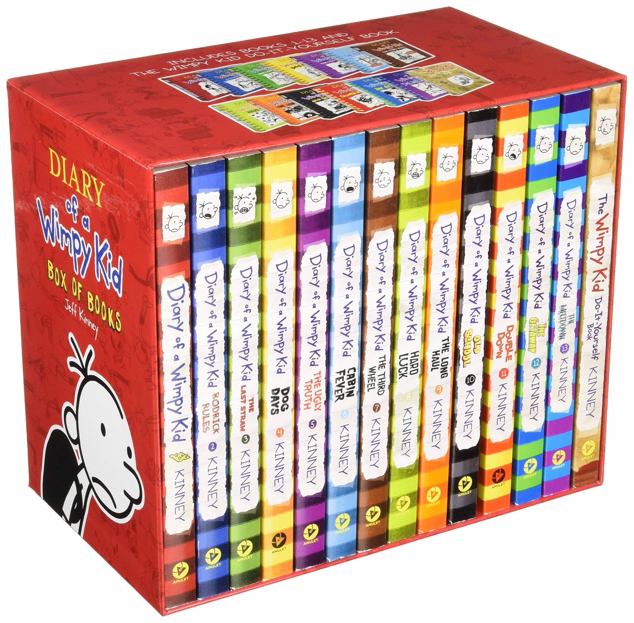 Diary of a Wimpy Kid Box of Books (1–13 + DIY) (Export)