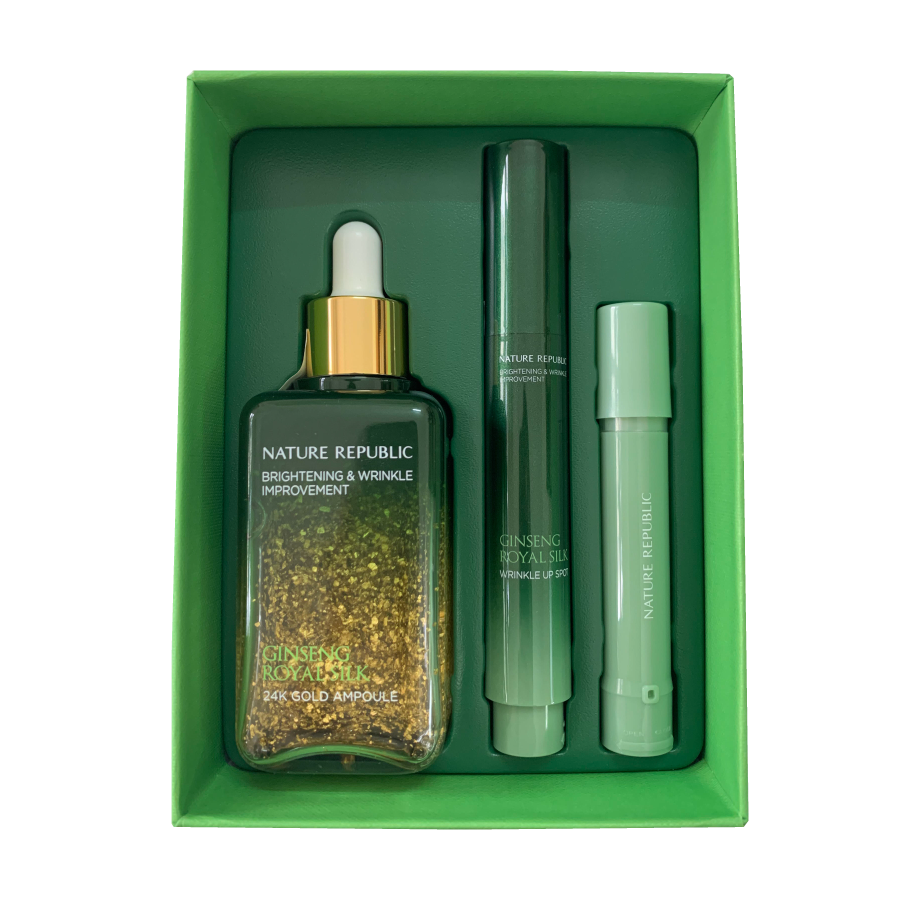 GINSENG ROYAL SILK 24K GOLD AMPOULE & WRINKLE UP SPOT SPECIAL SET