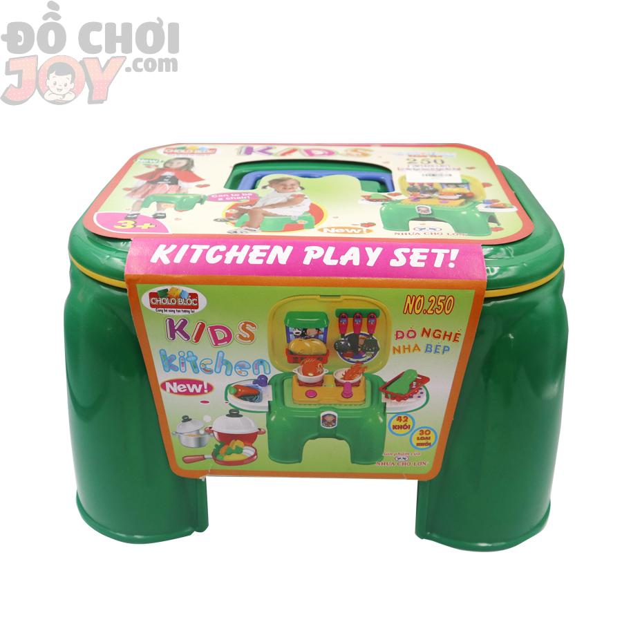 Bộ đồ chơi xếp hình 250 - Ghế ngồi chứa đồ nghề nhà bếp KIDS