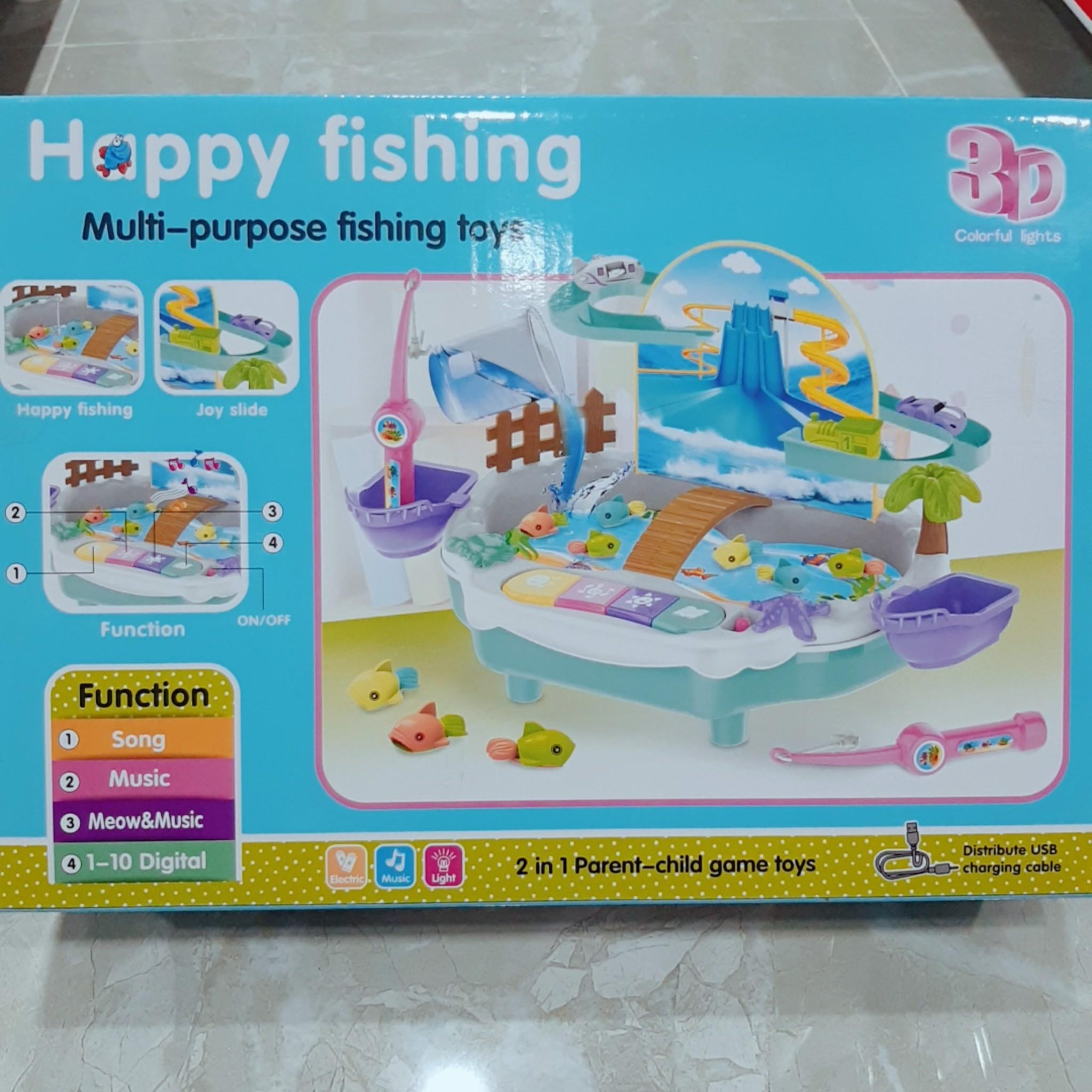Hộp Câu Cá Nước Pin Nhạc Đèn (Happy Fishing)