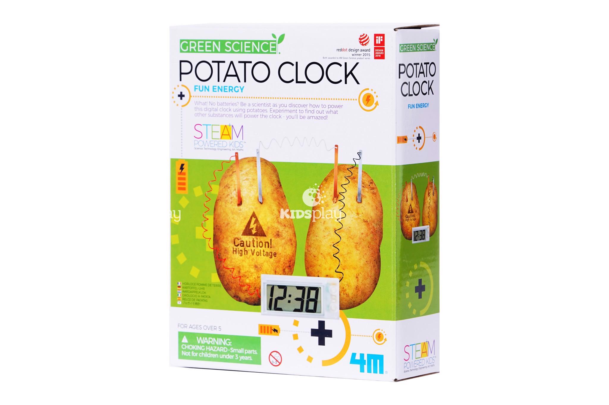 Đồng hồ khoai tây - Potato clock - Đồ chơi thông minh khoa học