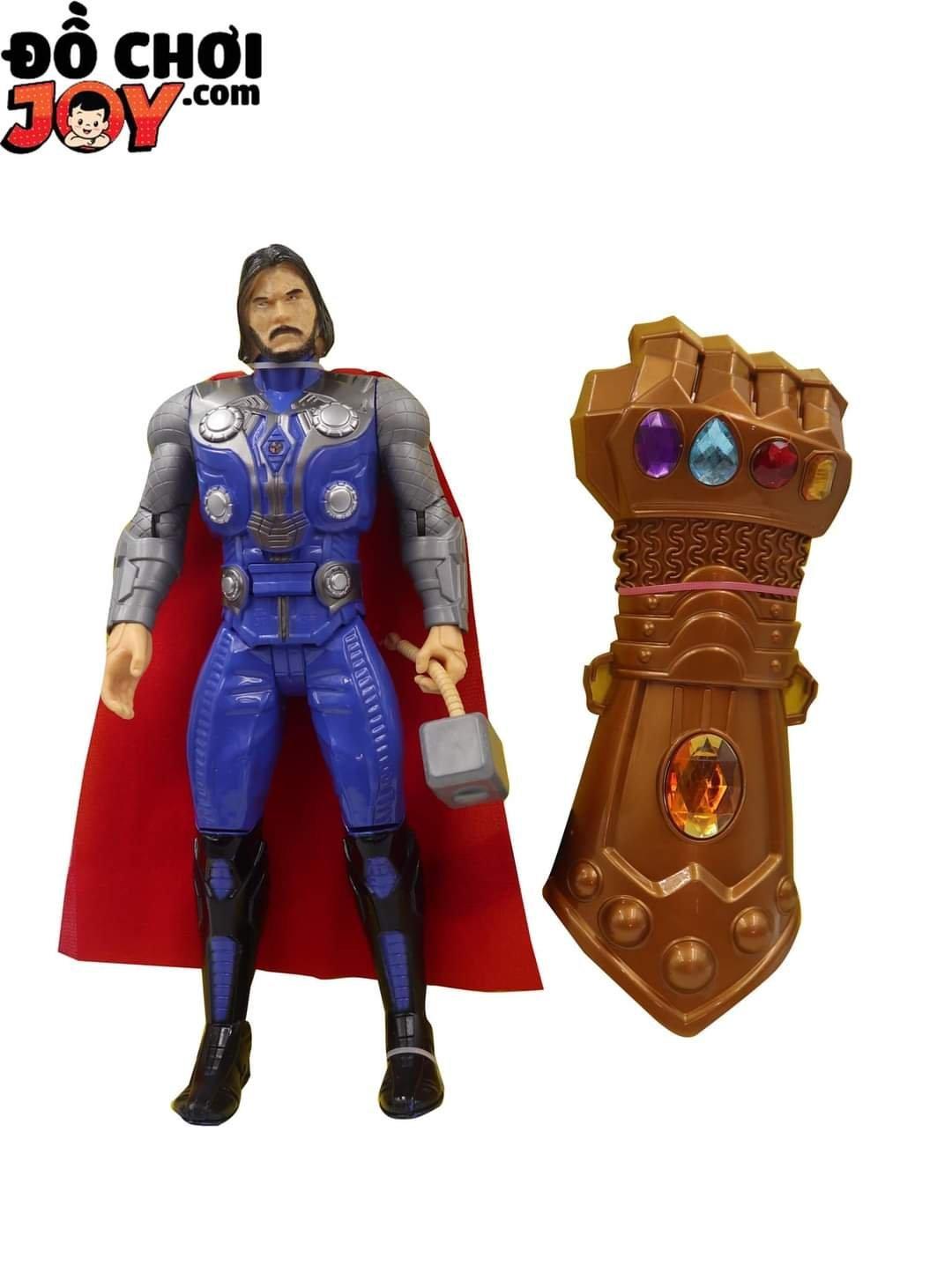 Hộp Sn 1T Thần Sấm (Thor) Pin Nút + Găng Tay Thanos