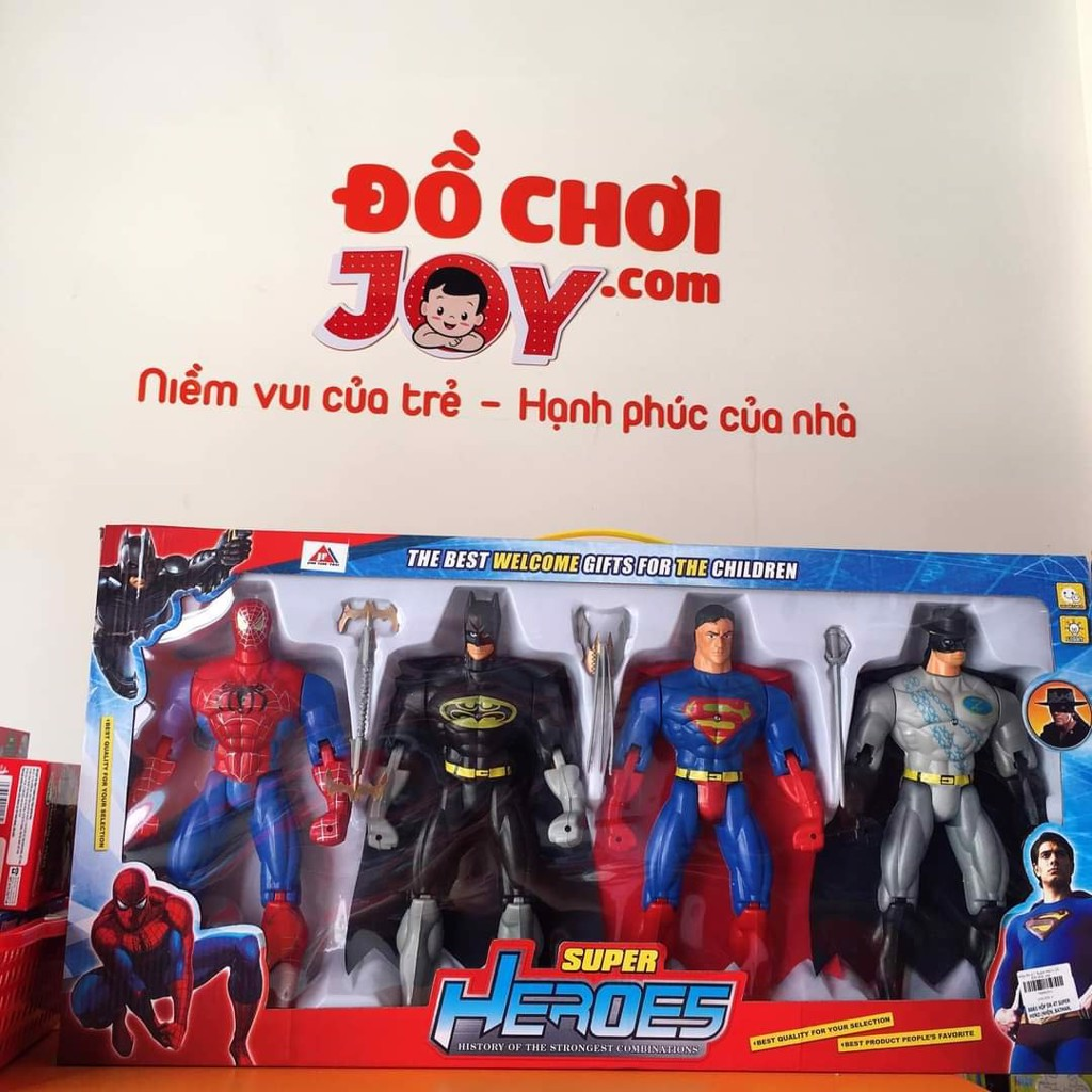 Hộp Sn 4T Super Hero (Nhện, Batman, Superman,Zorro)