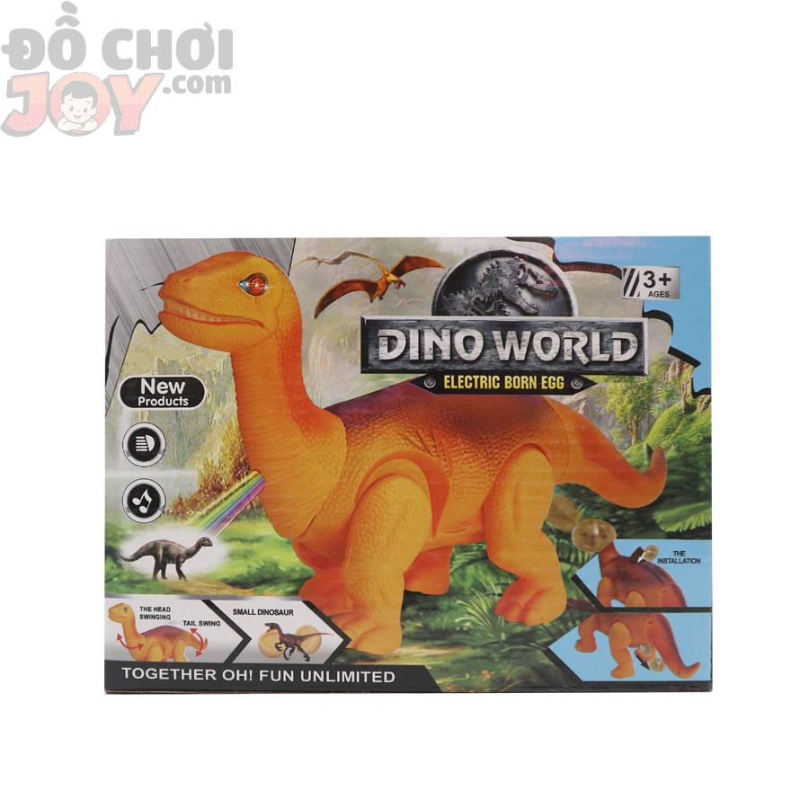 Đồ chơi khủng long pin cho bé trai - DINO WOLRD màu cam