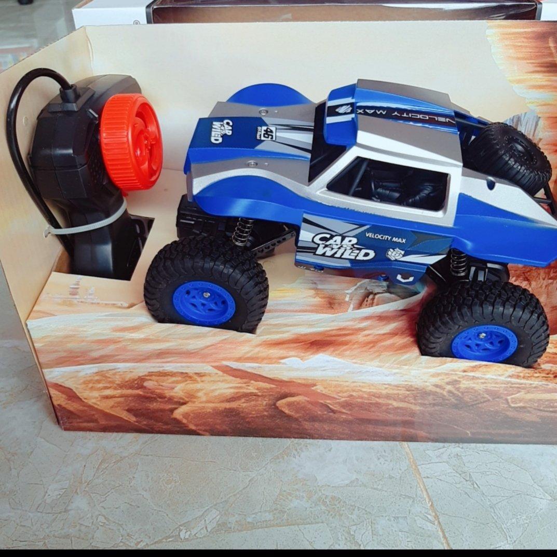Hộp Xe Jeep Bánh Lớn Địa Hình Đk 7 Đ.Tác, Cần Gạt Xoay, Có Sạc Tl 1:20 (Rock Crawler)