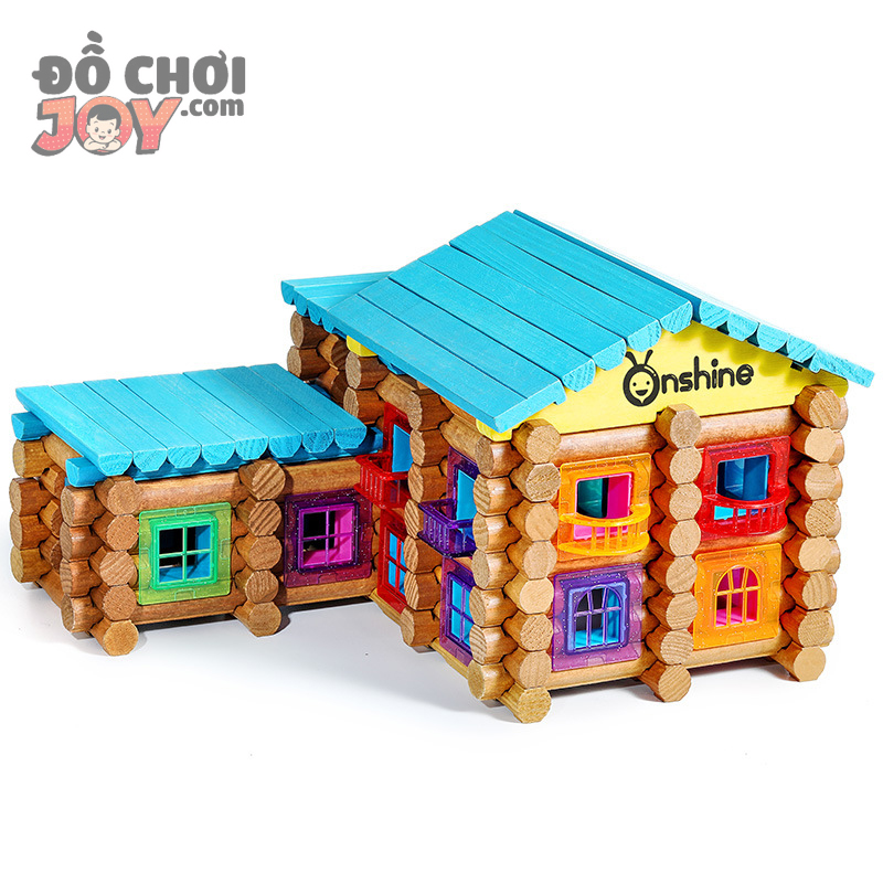 [Hàng Order] Lego khối gỗ Onshine - Đồ chơi lắp ráp gỗ