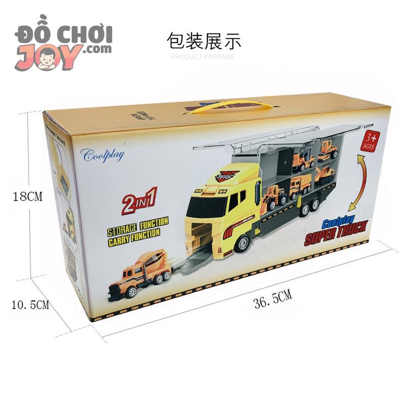 [Hàng Order] Xe tải chở 11 xe xây dựng mini 1086C - 1