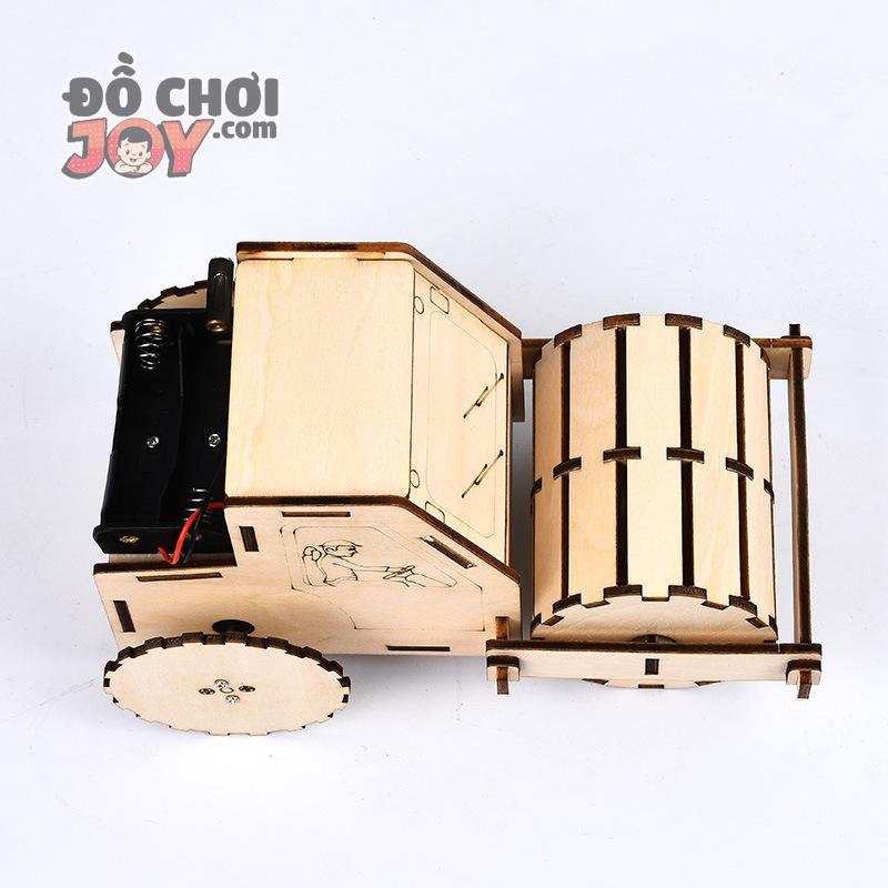 [Hàng Order] Đồ chơi tự làm - Lắp ráp xe lu công trình