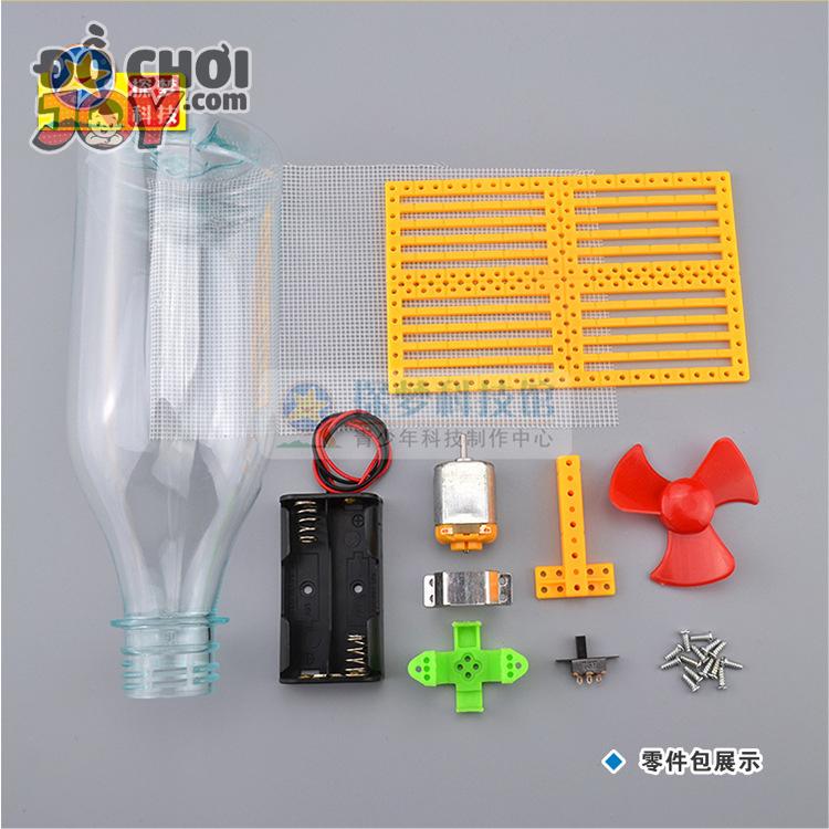 [Hàng Order] Đồ chơi DIY giá rẻ - Chế tạo máy hút bụi từ chai nhựa
