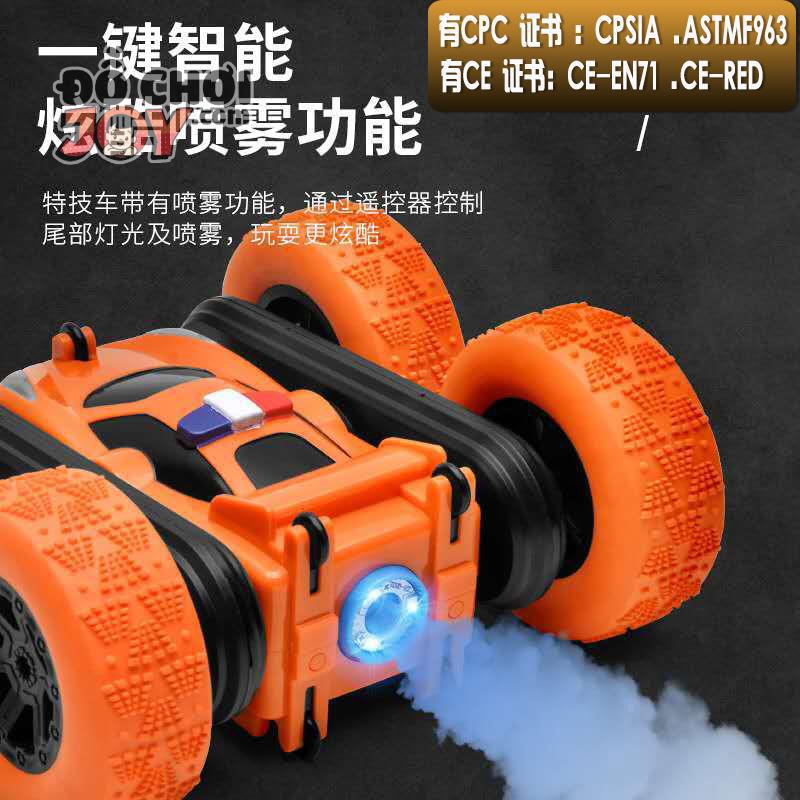 [Hàng Order] Xe nhào lộn chịu va đập tốt - ống khói phản lực điều khiển từ xa - Stunt Car