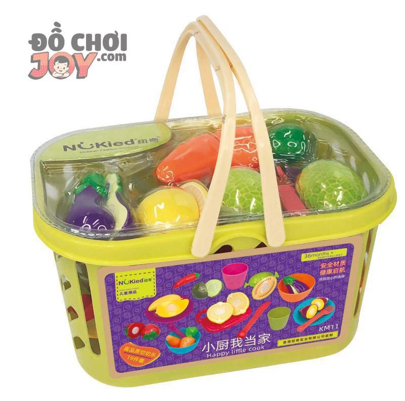 [Hàng Order] Giỏ siêu thị 23 miếng đồ chơi cắt trái cây rau củ