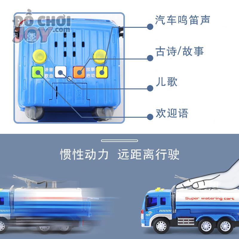 [Hàng Order] Xe bồn chở nước có vòi phun xa 1.8m