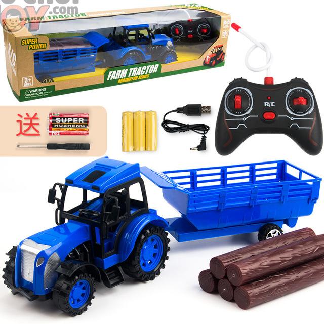 [Hàng Order] Xe kéo nông trại điều khiển từ xa - pin sạc cho bé trai