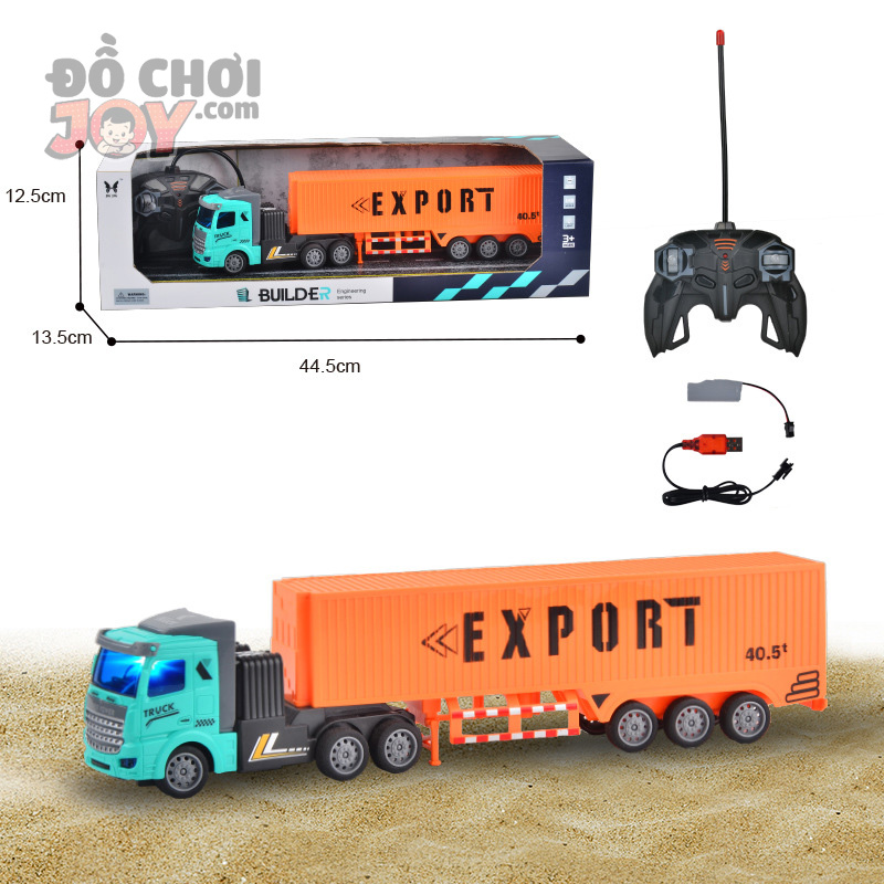 [Hàng Order] Xe container hạng nặng điều khiển từ xa pin sạc
