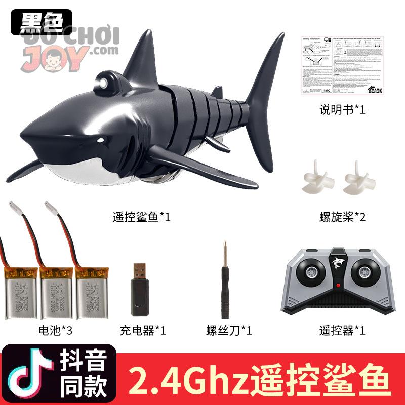 [Hàng Order] Cá voi sát thủ điều khiển từ xa cực ngầu cho bé trai Sandian bộ 3 pin sạc