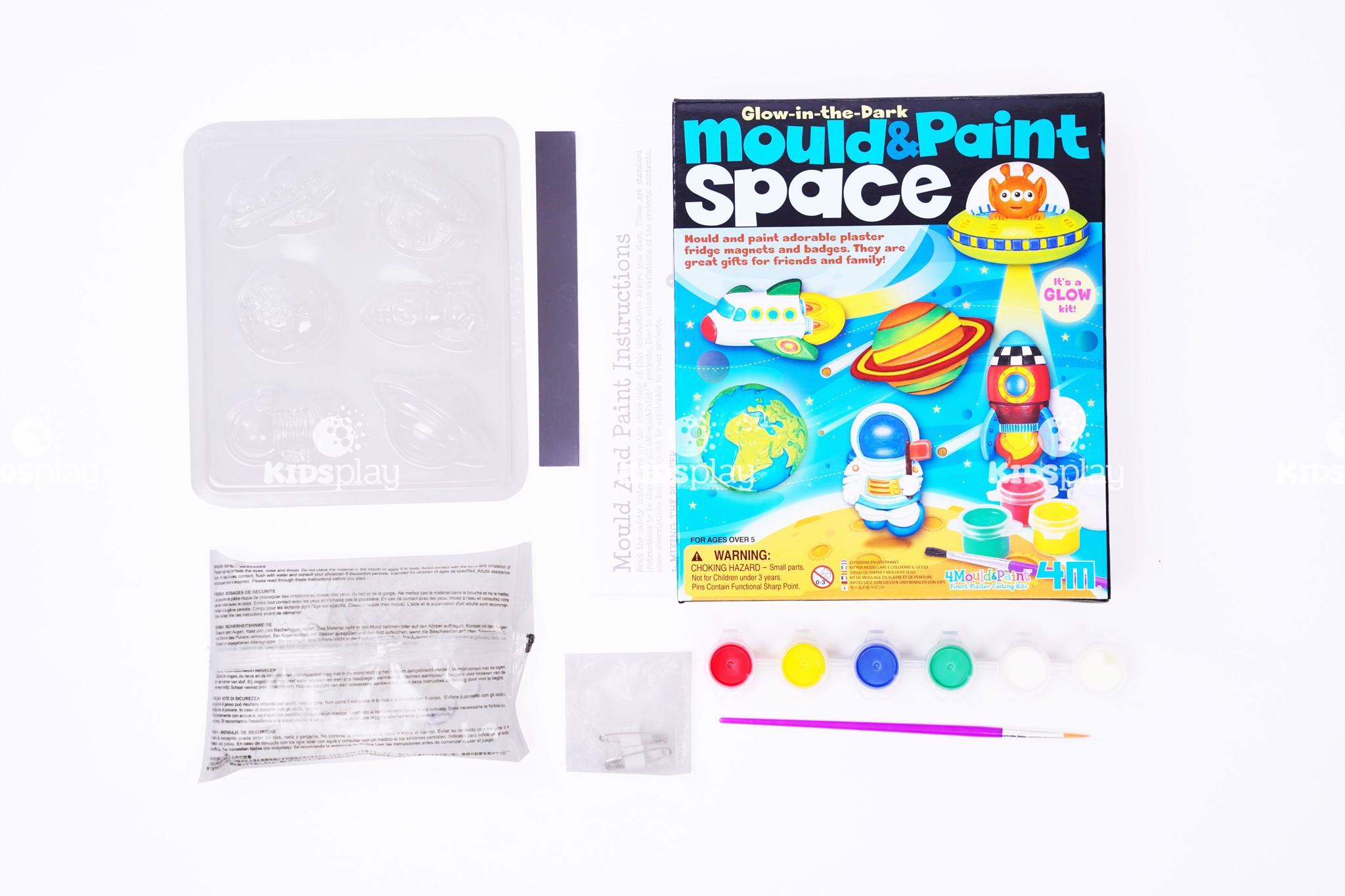 Bộ Kit tạo hình và sơn màu không gian vũ trụ phát sáng - Kích thích phát triển tư duy
